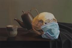 Still-life-with-masked-skull
